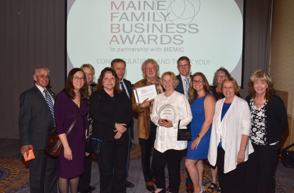 Large Business of the Year at 2018 Maine Family Business Awards, Woodlands Senior Living